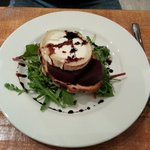 Grilled goats cheese and beetroot