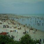A praia de tibau no dia 1º de janeiro