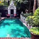 Gorgeous small pool at the courtyard