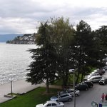 View of Ohrid from room in Hotel Tino