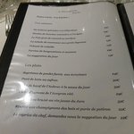 carte - menu