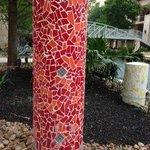 Colorful Tile Columns