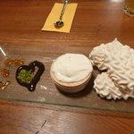 Crene de Gruyere and wood oven meringues