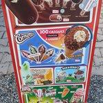 Voici les glaces disponibles le 29 avril , les enfants non pas beaucoup de choix voir pas  !!!!!