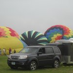 before takeoff, balloons being filled