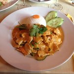 Peanut curry with chicken