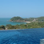 The infinity pool up on the hillside