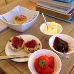 Tasty cream tea in the lounge area