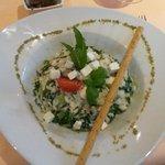risotto spinaci ortiche e feta