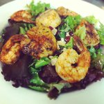 Cajun-Dusted Shrimp and Scallop Salad