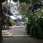 zwembad naast restaurant