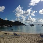 Cane Garden Bay - Beautiful beach, restaurants/bars/happy hour.