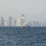 Vista de Ciudad de Panamá desde isla Flamenco