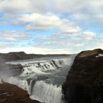 Photograph from one of the viewpoints in the Gullfoss area