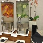 Pretty fruit-flavored water