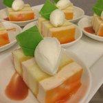 Tropical chiffon cake for dessert