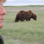 Guide Jo Murphy and Brown Bear