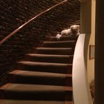 Rusty guarding the stairs