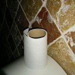 Dernières feuilles du dernier rouleau dans ces toilettes immonde..