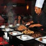 El restaurante japonés, cocinan en tu mesa (pedirlo al reservar)