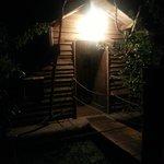 cabane flottante avec lumière extérieure l'interrupteur est à l'intérieur