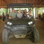 Jungle ATV leaving Selva Maya