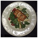 Arugula Salad with Blackened Salmon