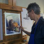 Artist Vladislav Yeliseyev. Teaching watercolor class.