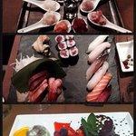 tartare, sushi e sashimi, dolci