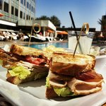 Lunch by the pool - Turkey BLT