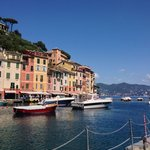 Looking from the port at Portofino.