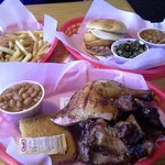 South street smokehouse out did themselves today. Here is the Kansas City combo and the chicken