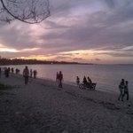 Beach area after sunset