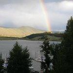 Rainbow touching the ground in Keystone Resort.