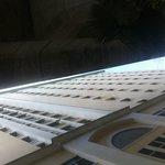 Towering hotel next too railway