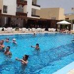aquaerobics in the pool