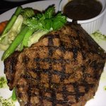 Half-cooked beef steak! Delicious!