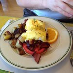 Benedicts eegs with crispy bacon!