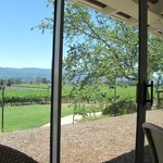 Vista do tasting room