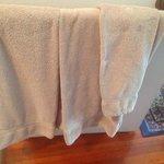 Bath towel, thin and small.