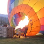 Inflating the balloons