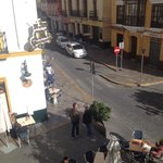 Calle Puerta de la Carne, left side view from room balcony