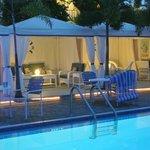 Pool-side cabanas