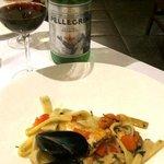 seafood pasta entree superb