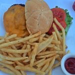 From the restaurant - Grilled Cheeseburger & Fries $11