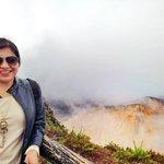 Impresionada por el Volcán