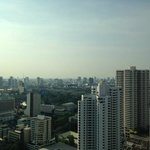 A view of the bangkok skyline from our room