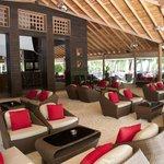 Sails bar, nice sand floor and decor