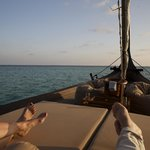 Private dinner on traditional maldivian boat