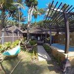 strandbungalow mit eigenem pool